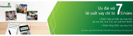 Vietcombank: vay gói 10.000 tỷ lãi suất chỉ 7%