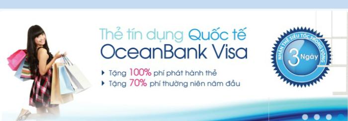 Thủ tục đăng ký thẻ tín dụng quốc tế VISA OceanBank