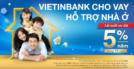 Vietinbank hỗ trợ vay mua nhà với lãi suất 5%
