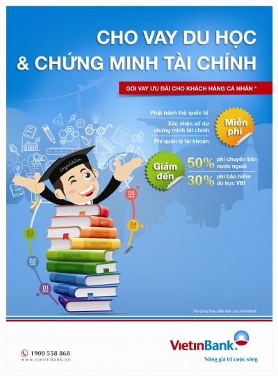 Vay tín chấp du học Vietinbank lãi suất thấp
